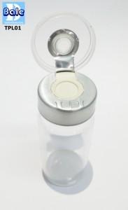 TPL 01ขวดแก้วใสฝาปิดยาฉีด 10ml