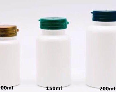 ขวดอาหารเสริม ขาวเงา ขวดยาเม็ด ขวดแค๊ปซูล ขนาด 60ml 100ml 150ml 200ml 300ml