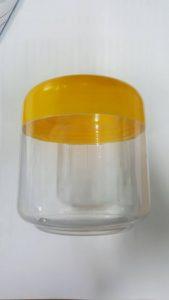 กระปุกเกลือ กระปุกสปา เนื้อ kpvc-500g ฝาเหลือง