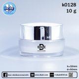 k0128-10g -ขาวมุก/เงิน